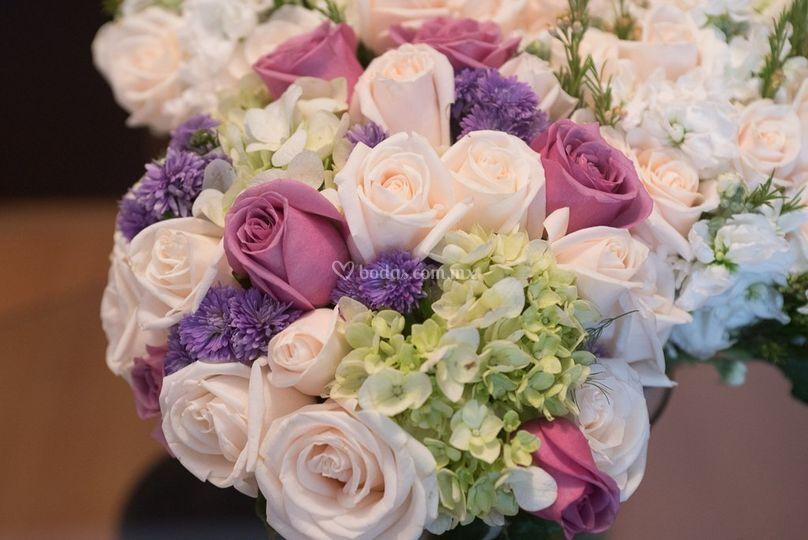 Selección de flores y colores