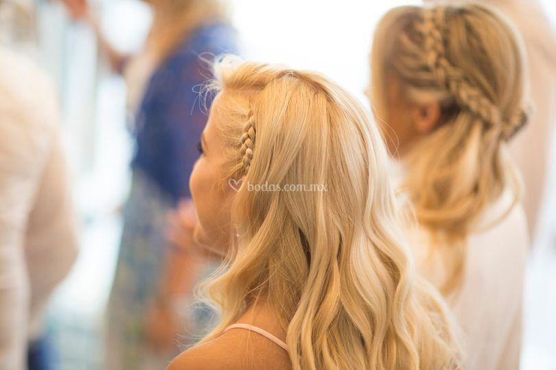 Peinado novia e invitada