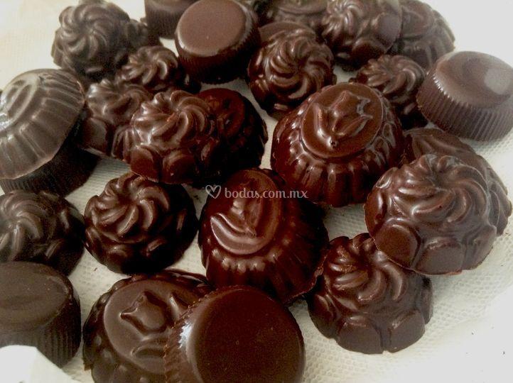 Chocolates macizos