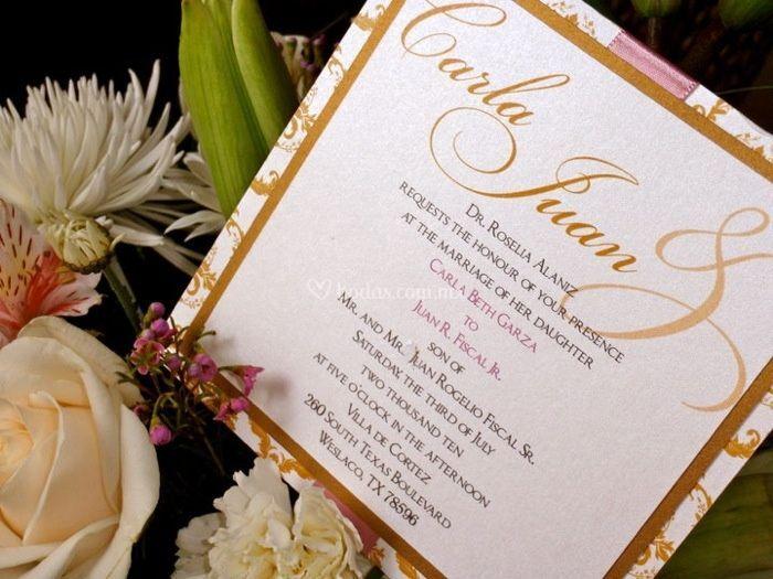 Invitaciones de boda reynosa
