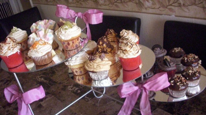 Variedad de cupcakes