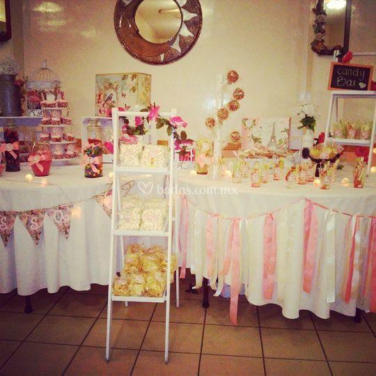 Mesas de postres y dulces