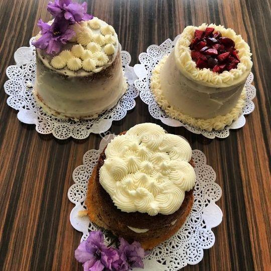Mini pasteles degustacion
