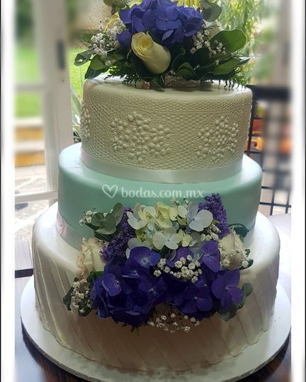 Pastel boda turquesa