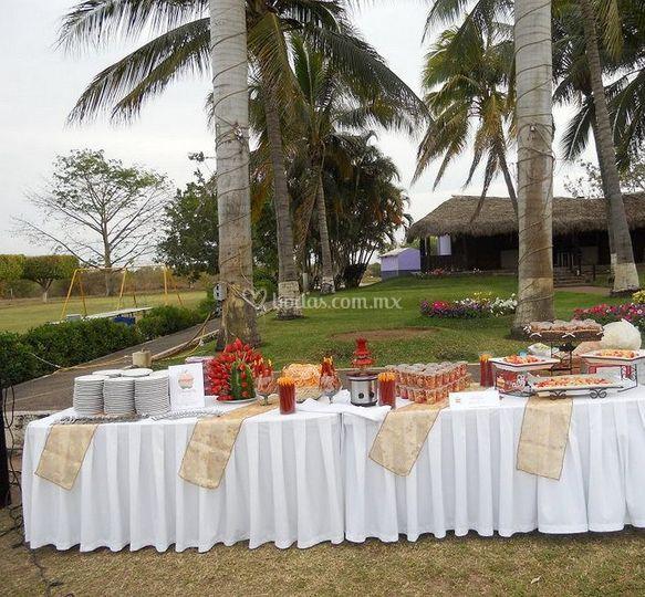 Preparación de la mesa