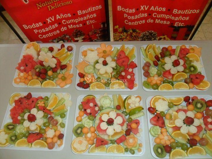 Charolas De Frutas De Apple Decoracion Foto 14 - Centros-de-mesa-de-frutas