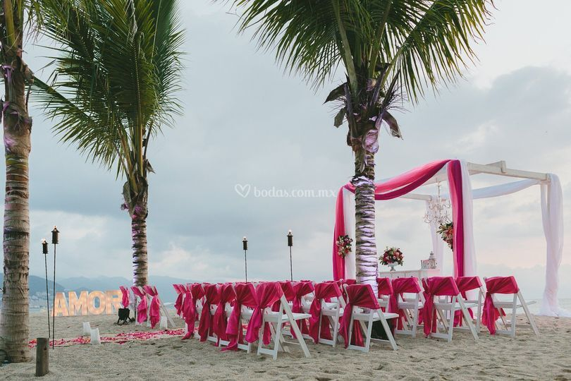 Ceremonia en playa