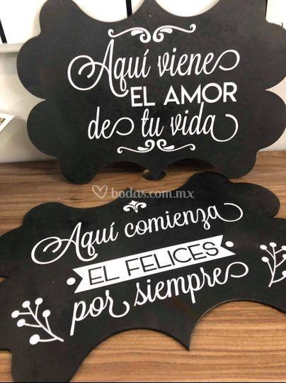 Letreros de boda