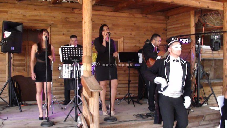 Grupo musical ambientación