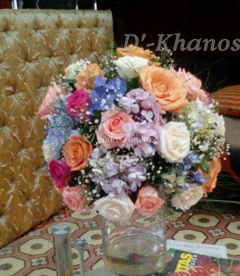 Pomander floral, muy colorido.