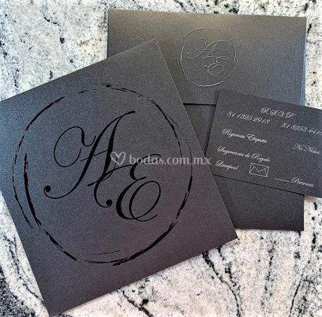 Invitación negra.. Preciosa!!