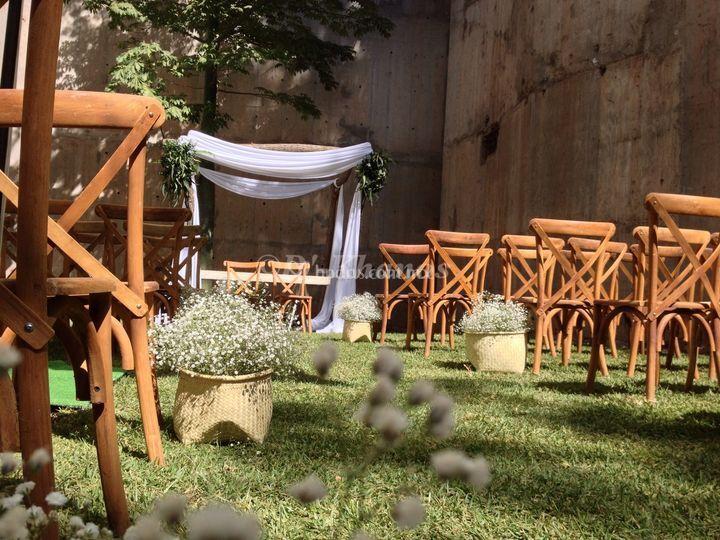 Área para boda civil.