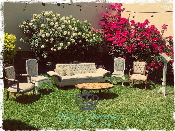 Boda Civil Jardin De Renta Y Decoración Vintage Foto 8