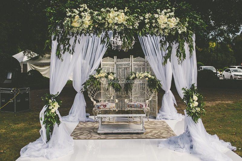 gazebo y flores boda civil de renta y decoración vintage | foto 6