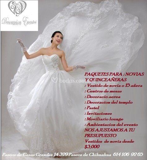 Paquetes de vestidos de novia