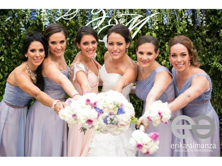Maquillaje novia y damas