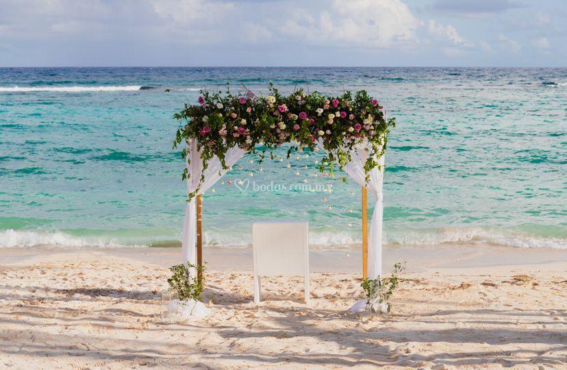 Wedding beach scenario