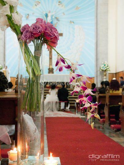 Orquídeas en el templo
