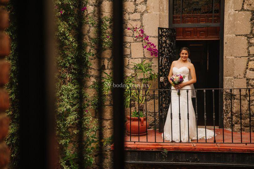 Laura en su boda