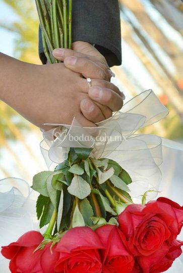 Detalles del ramo floral
