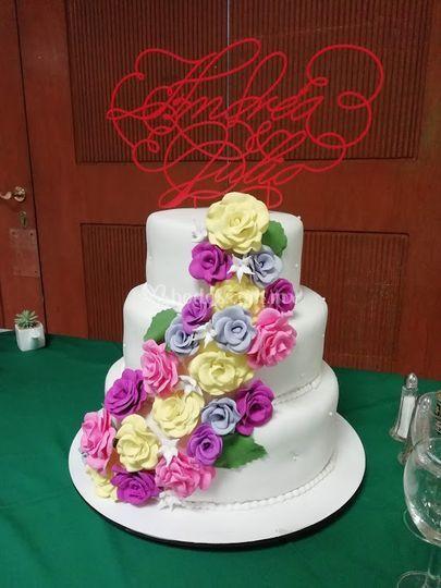 Cake topper Andrea y Julio