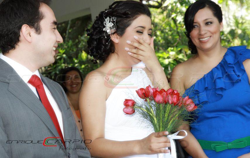 Emoción de novia