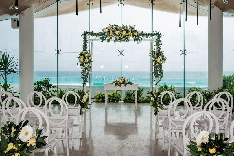 Ceremonia en lobby