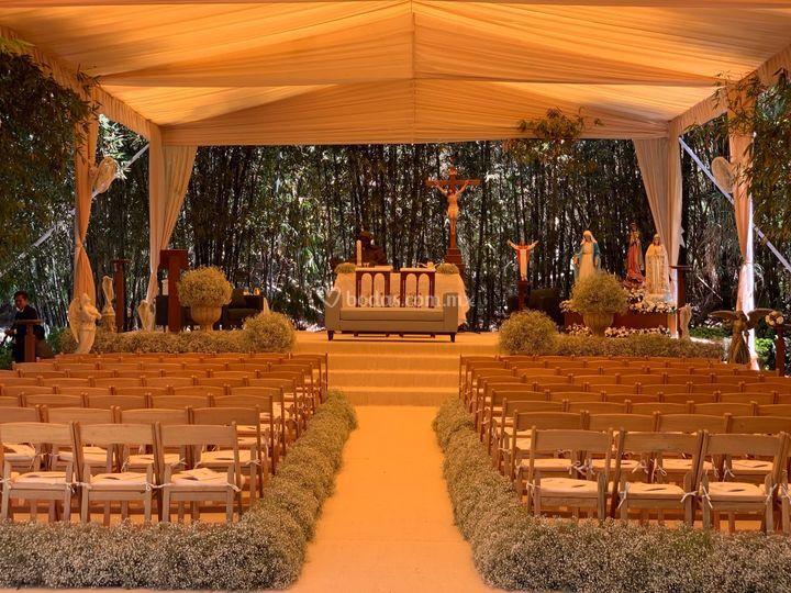 Montajes de ceremonia religios