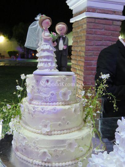 Pastel de bodas buttercream