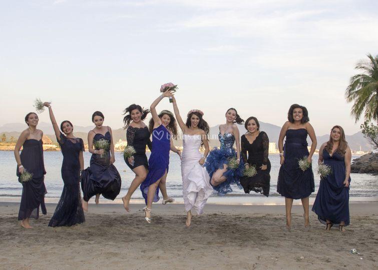 Sesión con damas de honor
