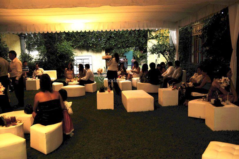 Fiesta sillones lounge de noche