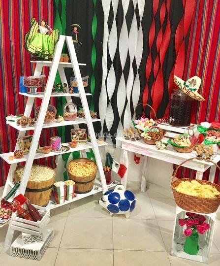 Mesa de dulces típicos mexican