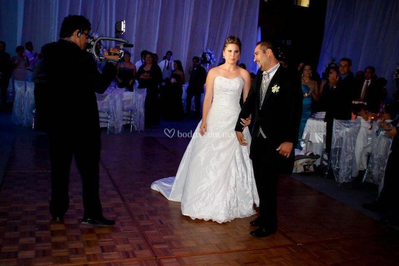 En acción boda