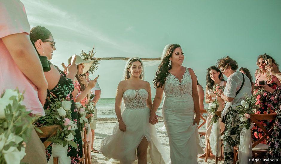 La boda de Natalia y Nelly en Mahahual, Quintana Roo