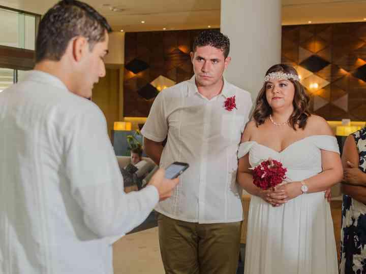 La boda de Guadalupe y Abel