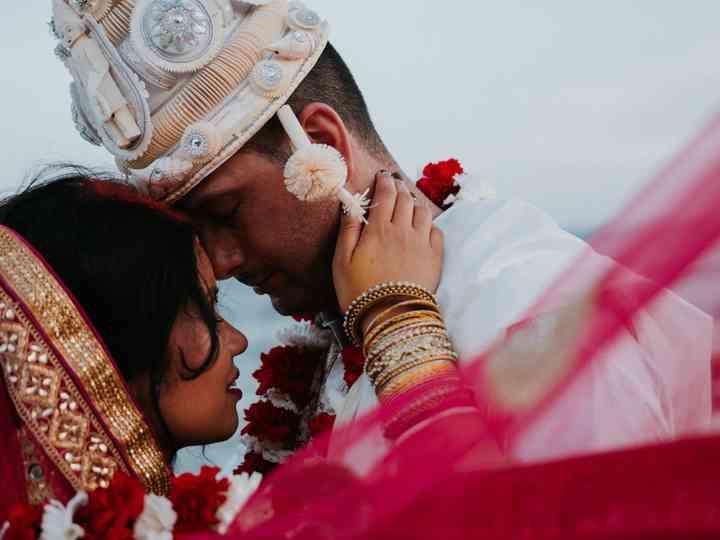 La boda de Aatrayee y Graden