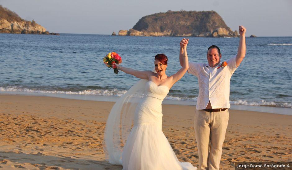 La boda de Donald y Michelle en Huatulco, Oaxaca