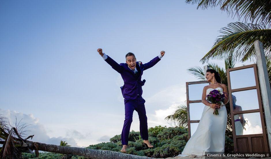 La boda de Dimitri y Lavinia en Playa del Carmen, Quintana Roo