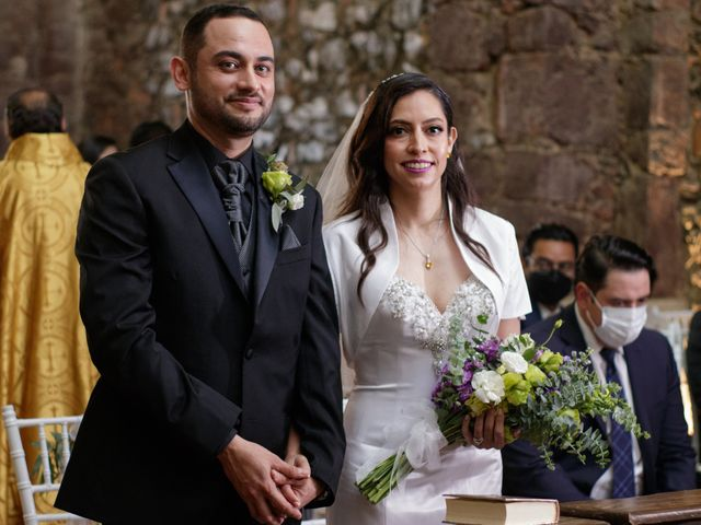La boda de Oscar y Iris en Huasca de Ocampo, Hidalgo 50