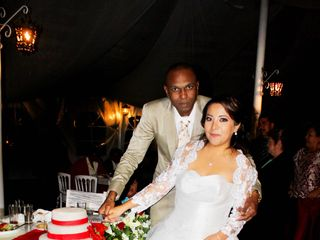 La boda de Luther y Janett