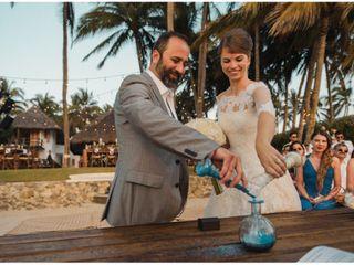 La boda de Uliana y César