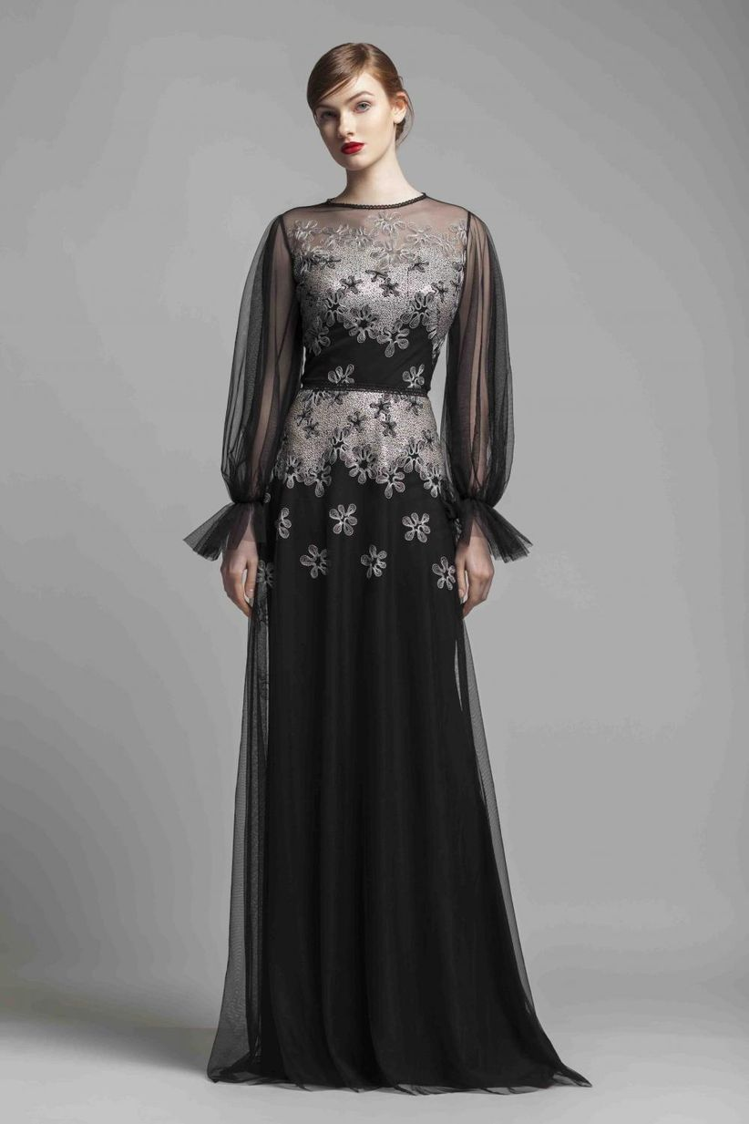 73e6bd6b5f 60 vestidos de noche con manga  ¿cuáles estilizan más  - bodas.com.mx
