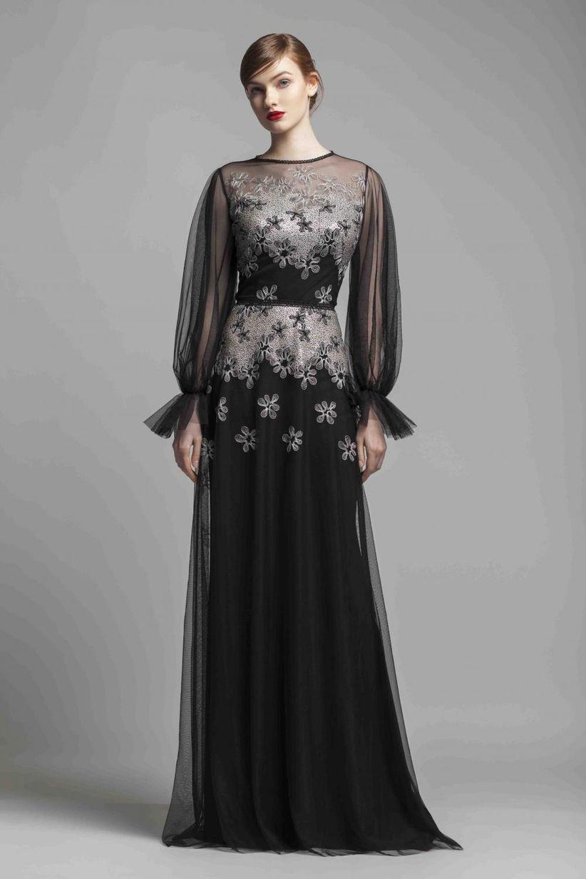 25ea6d4a4 60 vestidos de noche con manga  ¿cuáles estilizan más  - bodas.com.mx