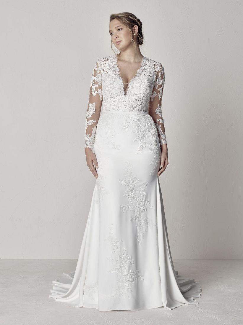 66b9102202e1 30 vestidos de novia para gorditas ¡y cásate con tus curvas! - bodas ...