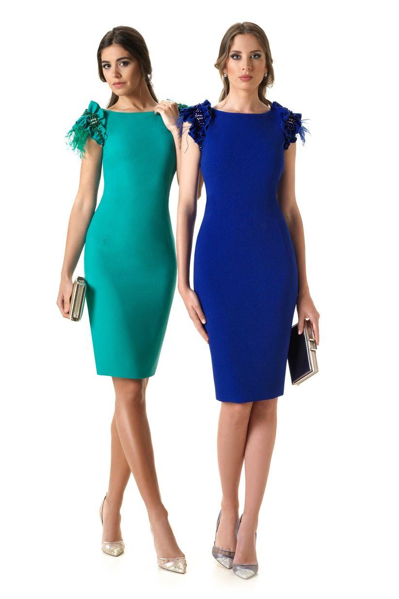 Vestidos de noche en color azul electrico