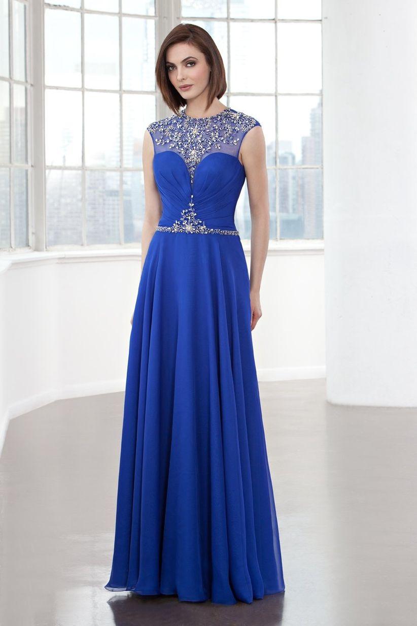 Imagenes de vestidos de fiesta color azul