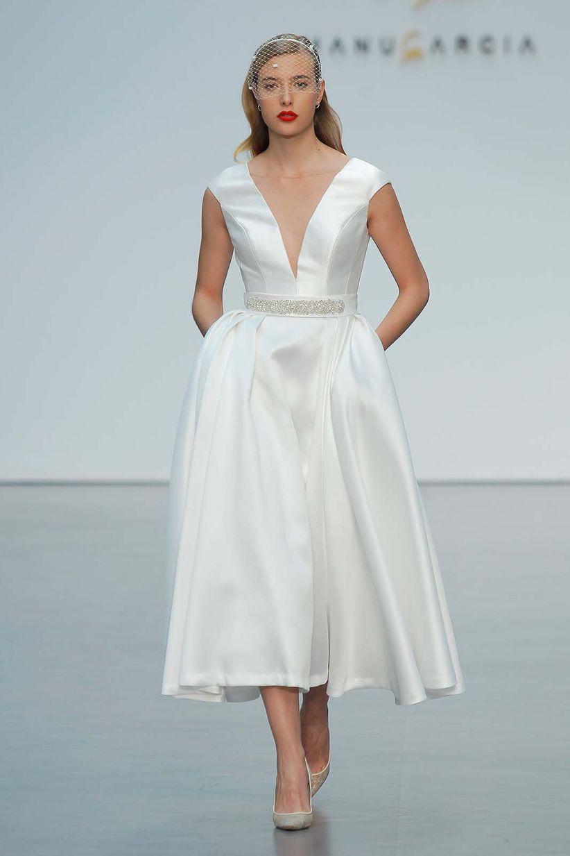 30 vestidos de novia de largo midi para caer en la tentación - bodas ...