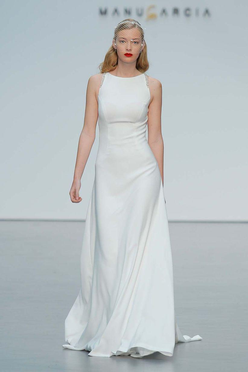 58 vestidos de novia sencillos: un lienzo en blanco para tu boda ...