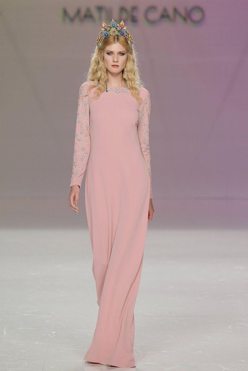 60 vestidos de noche con manga: ¿cuáles estilizan más? - bodas.com.mx