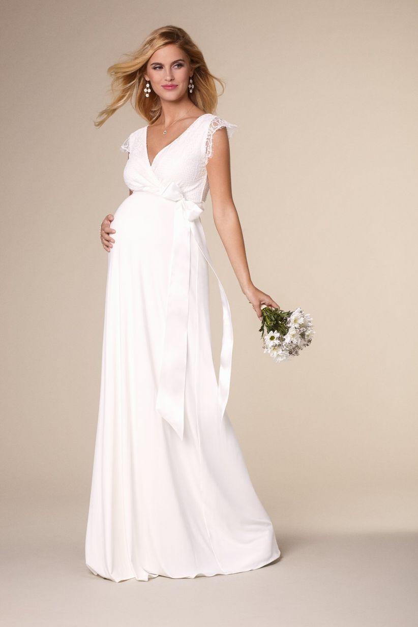 Vestidos de novia para embarazada de 5 meses